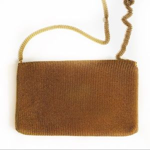 Vintage Whiting and Davis by Leo Narducci Gold Bag